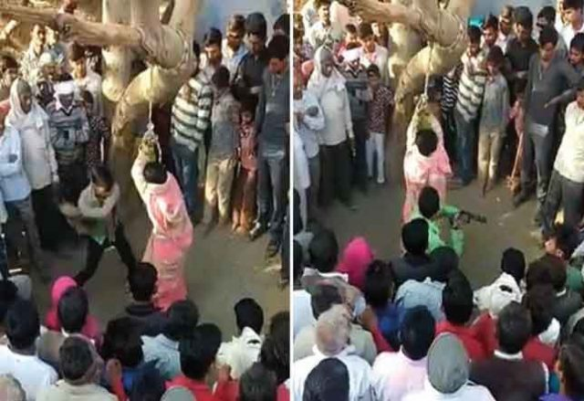 Woman accused of adultery is Tied to a tree and flogged 100 times By Husband then 'sexually assaulted' by Crowd