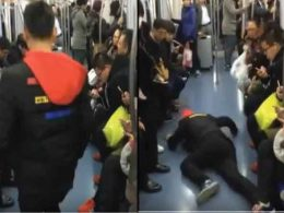 See what happened as Man fakes seizure to get help in a train in China