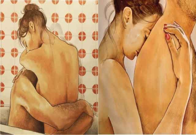 Italian artist creates 18 illustrations, Filled with sensuality and beauty of touch