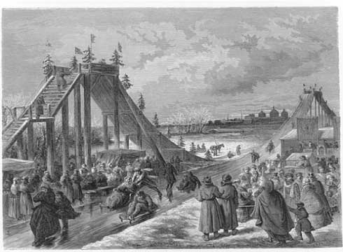 Early roller coasters were inspired by 17th century Russian ice slides