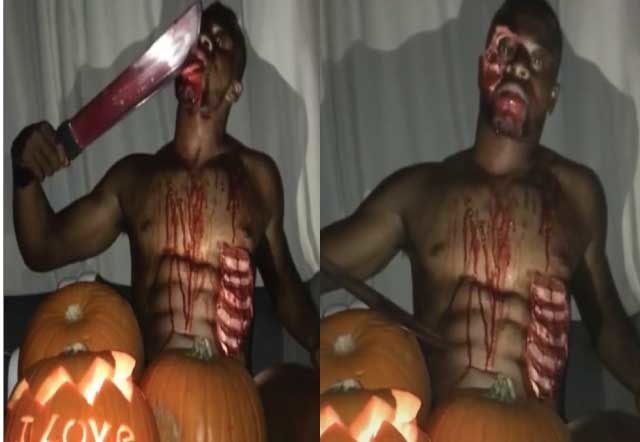 Patrice-Evra's-Halloween-gone-wrong