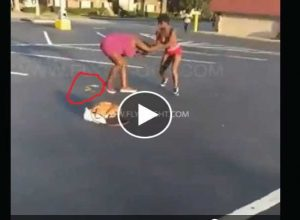 Big Girl With No Panties Literally Gets The Sh*t Beaten Out Of Her as She POOPED