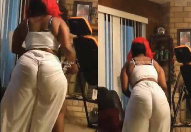 Mom Shows Off Her Sexy Thickness While Cleaning Up Her House
