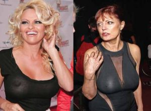 20 Big Busty Celebrities Who Dared to Step Out Braless
