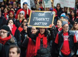 US teachers union endorses risk strikes