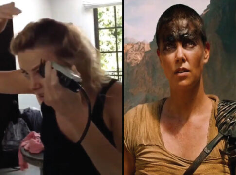 Charlize Theron Unveils Video of the day she shaved her head for Mad Max
